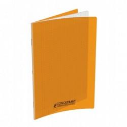 Cahier polypro 24X32 PP Orange 90G 96P Seyès