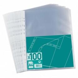 Sachet de 100 pochettes perforées Polypro 4/100e A4