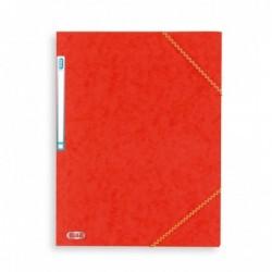 Chemise A4 carte lustrée TOP File 3 rabats à élastiques ROUGE