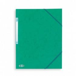 Chemise A4 carte lustrée TOP File 3 rabats à élastiques VERT