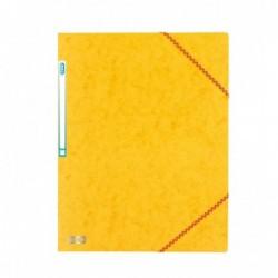 Chemise A4 carte lustrée TOP File 3 rabats à élastiques JAUNE