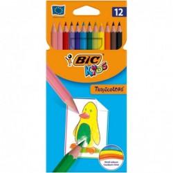 BIC Pochette plastique de 12 crayons de couleur assortis TROPICOLOR