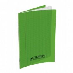 Cahier polypro  17X22 grands carreaux Vert 90G 48P