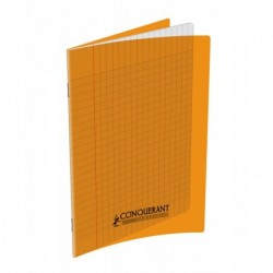 Cahier plypro  17X22 grands carreaux Orange 90G 48P