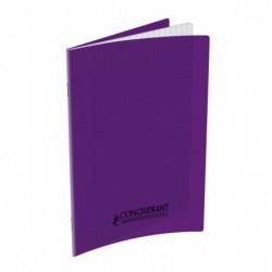 Cahier ploypro  17X22 grands carreaux  Violet 90G