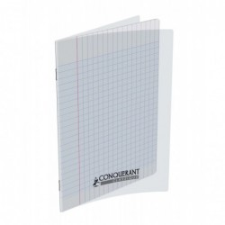 Cahier ploypro  17X22 grands carreaux incolore 48 pages