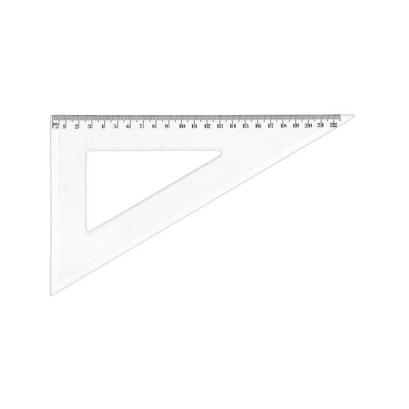 Equerre 45° 21 cm plastique