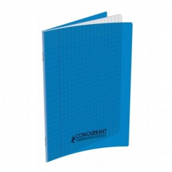 Cahier polypro  17X22 grand carreau bleu 90G 48P