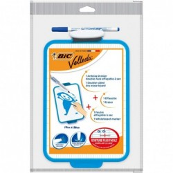 BIC Ardoise Velleda blanche + 1 marqueur effaçable