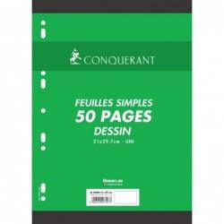 Etui de 50 pages feuillets mobiles de dessin Unies