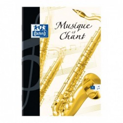 Cahier Musique  24x32 48 Pages couverture Carte