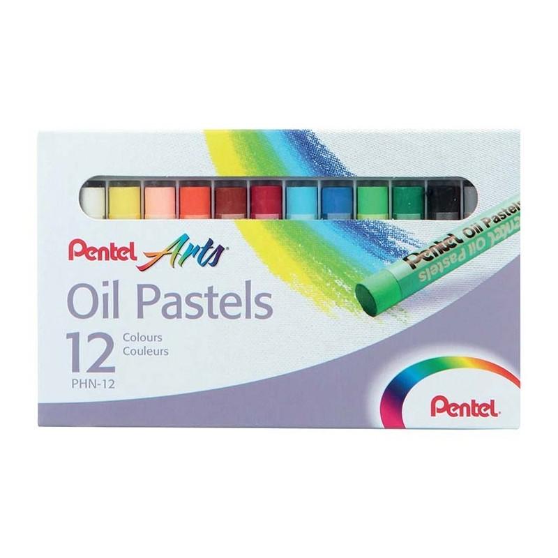 Pentel  Boite de 12 Pastels à l'huile assortis
