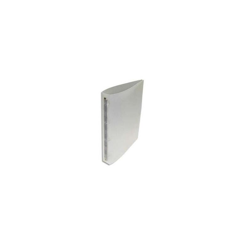 Classeur 4 anneaux polypropylène dos 4 cm Incolore