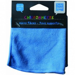 Chiffonnette microfibre 20x20cm bleue