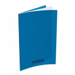 Cahier polypro 24X32 PP Bleu 90G 96P 5x5