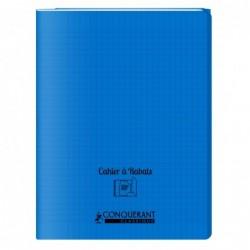 Cahier polypro 24X32 PP Bleu 90G 96P à rabat Seyès