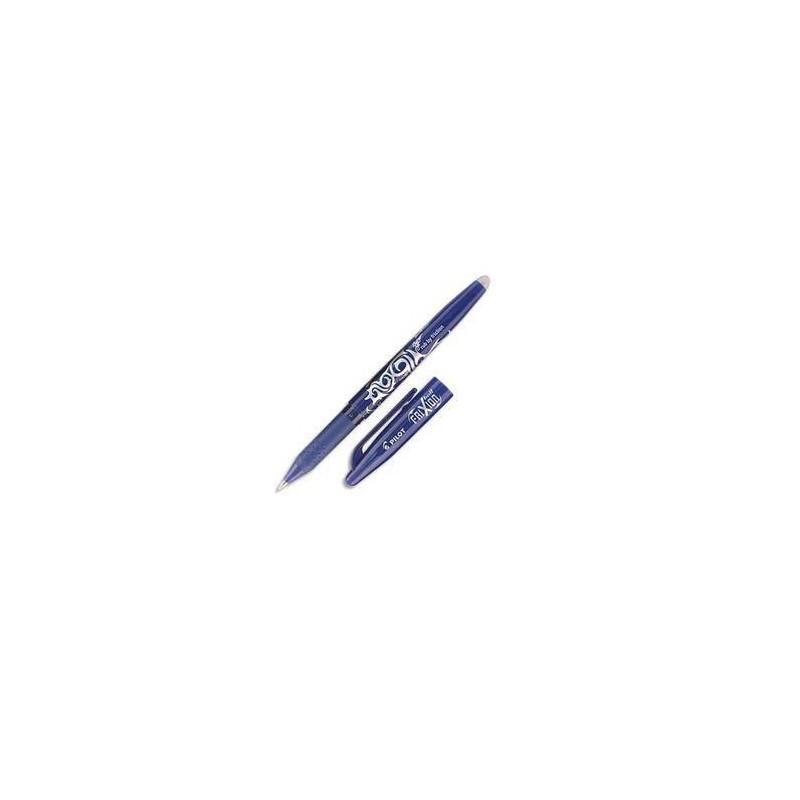 PILOT Stylo à bille encre gel (s'efface à l'aide de la gomme en bout de stylo) FRIXION coloris bleu