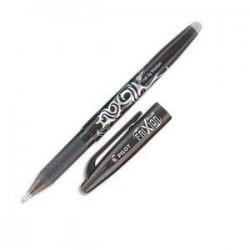 PILOT Stylo à bille encre gel (s'efface à l'aide de la gomme en bout de stylo) FRIXION coloris noir