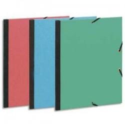 Exacompta Carton à dessin à élastique 28x38cm papier à grain couleurs Assorties
