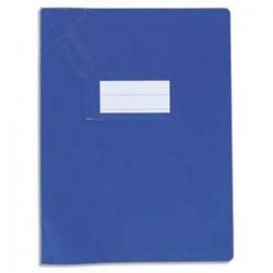 Protège-cahier 17x22cm Bleu