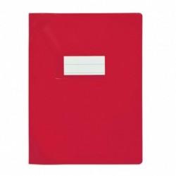 Protège-cahier 17x22cm Rouge