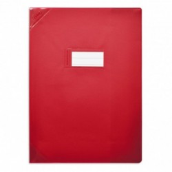 Protège-cahier 24x32cm Rouge