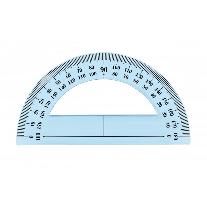 Rapporteur 180° 12cm incassable
