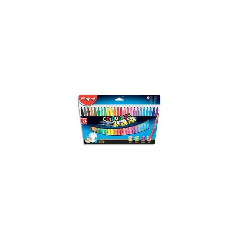 Maped  Pochette 24 feutres de coloriage COLORPEP S. Pointe moyenne. Coloris assortis