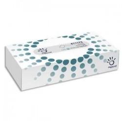 Boîte de de 100 Mouchoirs 2 plis pure cellulose blanc