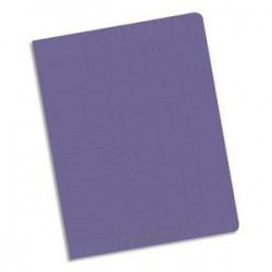Cahier polypro 24X32 PP Violet 90G 96P 5x5