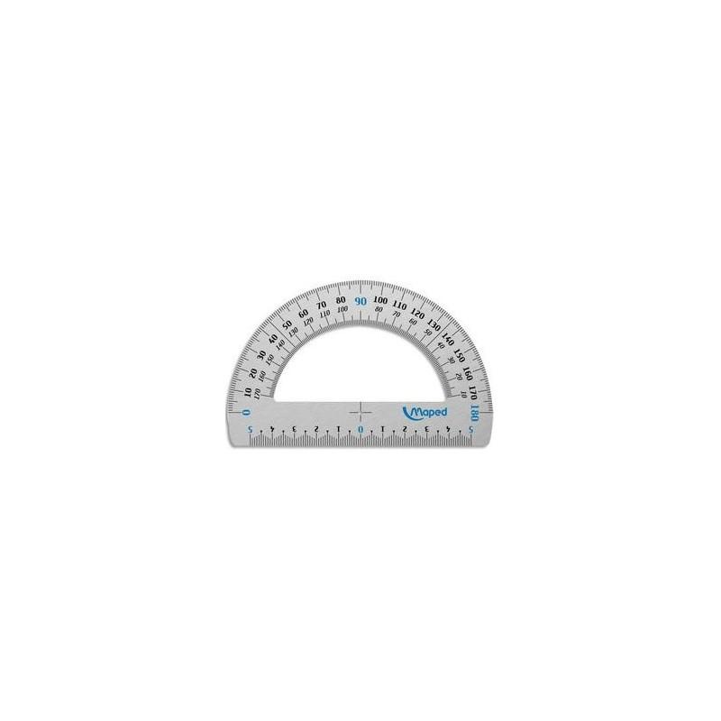 MAPED rapporteur demi circulaire 180° aluminium 12cm