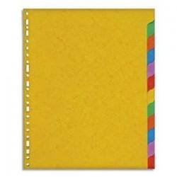Jeu d'intercalaires 12 positions en carte lustrée  Format A4+.