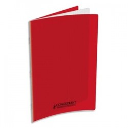 Cahier polypro rouge...