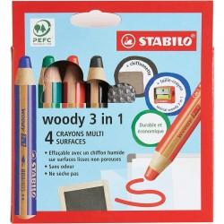 STABILO woody 3 en 1 pour...